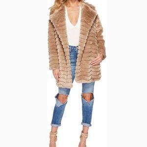 BB Dakota McCoy Faux Fur Coat beige Large